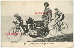 Postkarte , Bruno Demke , Brennabor , Fahrrad / Motorrad , Berlin , um 1910 !!!
