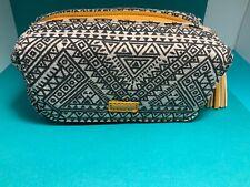 🌸 Silpada Black White Yellow Zipper Jewelry Makeup Travel Bag (W10)  NWOT🌸