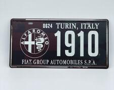 License Plate with Alfa Romeo Logo
