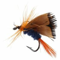 12pcs Fly Fishing Hooks Fishing Lure Feather Steel Bait Hook Tackle P9Z2