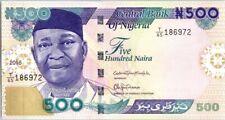Nigeria 500 Naira 2016 - Dr N. Azikiwe, Plateforme pétrolière