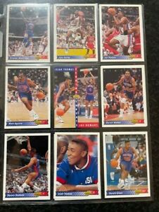 1992-93 UPPER DECK NBA TRADING CARD COLLLECTION - 💥  PISTONS 💥