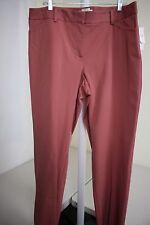 NWT $70 Talbots Curvy Slimming Pinkish Rust Dress Pants Size - 16