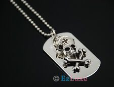 army military medal Skull Dog Tag Necklace ball chain Descendants of the Sun TV