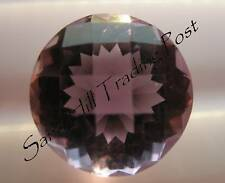 Natural 11mm Round Checkerboad 4.15ct Amethyst