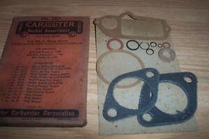 NOS OLDS,HUDSON PONTIAC 1942 CARTER CARBURETOR GASKET ASSORTMENT PACKAGE #167