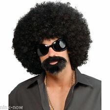 Afro Man 70 S Hippie 80 S Disco Sunglasses Moustache Men Costume Wig