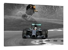 Lewis Hamilton 30x20 Inch Canvas - Monza Mercedes Framed Picture F1 Poster