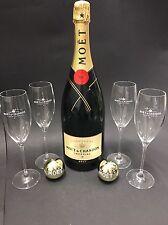 Moet Chandon Impérial Champagner 1,5l Mag. Flasche 12% Vol + 4 Moët Glas Gläser