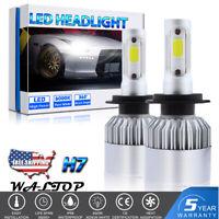 2PC H7 LED Headlights Bulbs Kit High/Low Beam 1400W 210000LM Super Bright 6000K