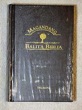 Tagalog Bible, Contemporary Version, Popular Version, Hardcover, Black Handheld