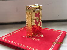S.T. Dupont Feuerzeug TEATRO - Urban - roter Lack/Gold - Limitierte Edition 1997
