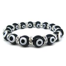 Evil Eye Murano Glass Bead Protection Bracelet in Black
