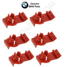 2 Rear + 4 front 6 GENUINE Clips NEW Window Regulator Bracket Set Kit For BMW