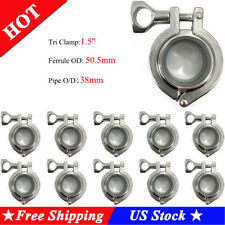 "1.5"" 10pcsTri Clamp Set with Ss304 Sanitary Pipe Weld Ferrule and Silicon Gasket"