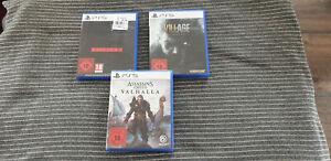 PS5 Spielesammlung Assassin's Creed Valhalla Hitman Resident Evil Village SPIELE