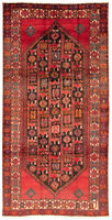 """Vintage Hand-Knotted Carpet 5'2"""" x 9'8"""" Traditional Oriental Wool Area Rug"""