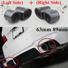 Stainless steel Carbon (Right+Left) Bent Adjustable SUV Car Exhaust Pipe Muffler
