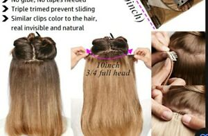 Clip_ in hair extensions curly L17 w10