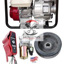 Electric Start Kit Flywheel Starter Motor Switch Fit Honda GX340 GX390 EB