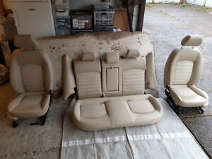 2008 FACE LIFT JAGUAR X TYPE ESTATE SEATS, CREAM / BEIGE HALF LEATHER SEATS SEL