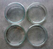 4 Petrischalen, stabiles Glas (4 Ober-, 4 Unterteile) 10 cm, sehr guter Zustand