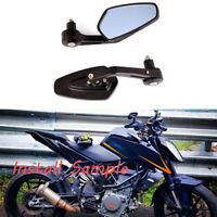 "For 2016 2017 2018 2019 KTM 390 Duke Motorcycle 7/8"" Handle Bar Mirrors Black"