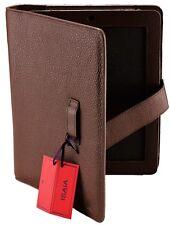 NWT ISAIA IPAD 4 CASE genuine leather corallino brown luxury Italy