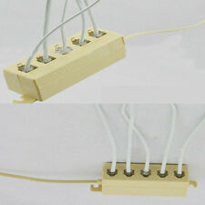 5 Way Outlet 4C RJ11 Telephone Phone Modular Jack Line Splitter Adapter Beige