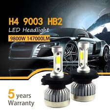 Pair H4 9003 HB2 980W 147000LM Car LED Headlight Bulbs COB kit 6000K White
