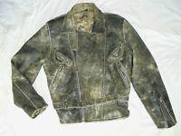 Herren Bikerjacke Motorradjacke Lederjacke Rocker Mens Leatherjacket Gr M L 52