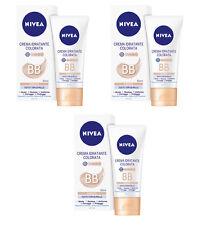 3pz NIVEA BB Crema Idratante Colorata Dorata tutti i tipi di pelle 50ml NUOVA