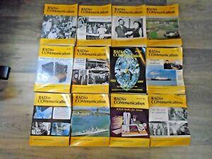 Vintage 1985 Radcom RSGB Members Magazine Complete Year 12 Issues