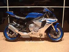 1:12 YAMAHA R1 R1M SUPERBIKE Factory Bleu Argent yrt BSB WSBK TT