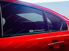 2 x Kia Motorsport Stickers for Windows Ceed Optima Rio Soul Sportage Stinger