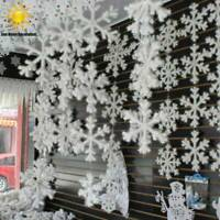 12/30/60pcs Classic White Snowflake Ornaments Christmas Tree Party Home Decor