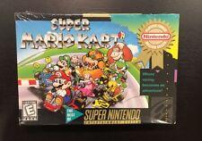 Super Mario Kart (Super Nintendo, SNES) Brand New, Factory Sealed