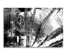 Leinwandbild abstrakt schwarz grau weiß Paul Sinus Abstrakt_860_120x80cm