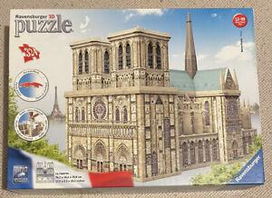 RAVENSBURGER 3D PUZZLE - NOTRE-DAME PARIS - USED COMPLETE GREAT CONDITION XMAS
