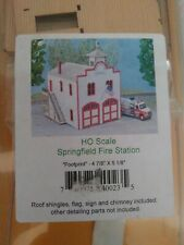 NORTHEASTERN HO SCALE STS SERIES SPRINGFIELD FIRE STATION - NEW, LASER CUT KIT