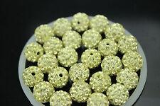 50pcs 10mm Disco Ball Czech Crystal Heart bead fit Shambhala Bracelet bead 0020