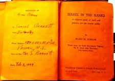 ISRAEL IN THE RANKS - Carried by a Jewish Infantryman - WWII - 1944 - Signed