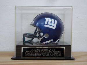 Julian Edelman Display Case For Your Patriots Signed Football Mini Helmet