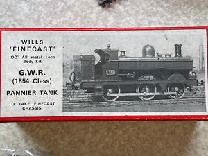 oo gauge wills finecast locomotive Body kit Pannier Tank 1854 Class