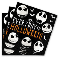 HALLOWEEN NIGHTMARE BEFORE CHRISTMAS LUNCH NAPKINS JACK SKELLINGTON PARTY TABLE