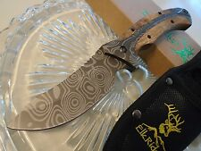 Elk Ridge Fancy Burlwood Grey Tini Bowie Skinner Hunter Knife Full Tang 560WD