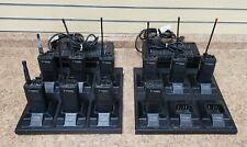 Lot of 10 Motorola Radius GP300 2-Way Radios w/ Charging Bases Pre-owned