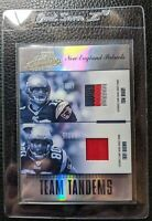 2004 ABSOLUTE TOM BRADY 4 COLOR GAME USED JERSEY PATCH T BROWN PATRIOTS #06/25