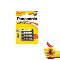 4 Pilas Panasonic 1,5V AAA alkalinas power LR03 - Envio desde España