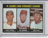 1967 Topps #238 NL Strikeout Leaders Koufax/Bunning/Veale Nr. Mint